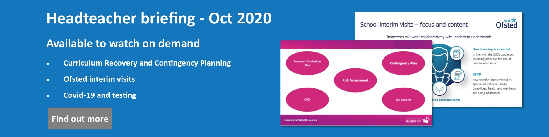 Headteacher briefing October 2020 available on demand