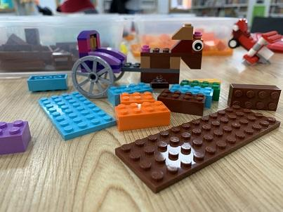 Lego Tables at Lego Club at Kidderminster Library
