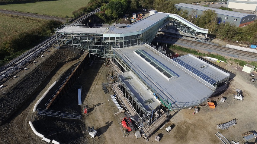 Birds eye view of Worcestershire Parkway station