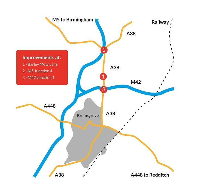 Worcestershire County Council's programme of improvement works to relieve congestion on the A38 in Bromsgrove is due to begin later this month.