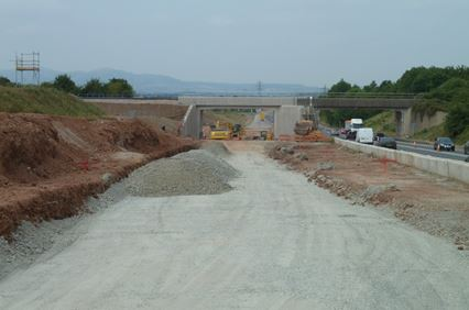 An image of The A4440 Worcester Southern Link Road Improvements showing the new railway bridge