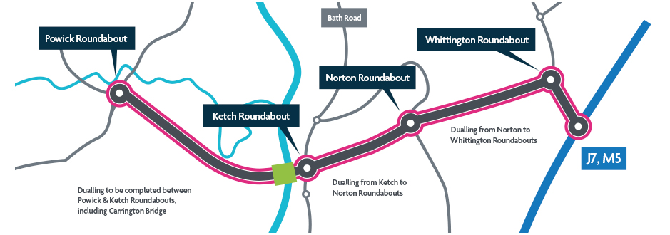 An image of the Southern Link Road Map