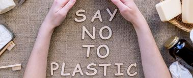 An image that says no to plastic
