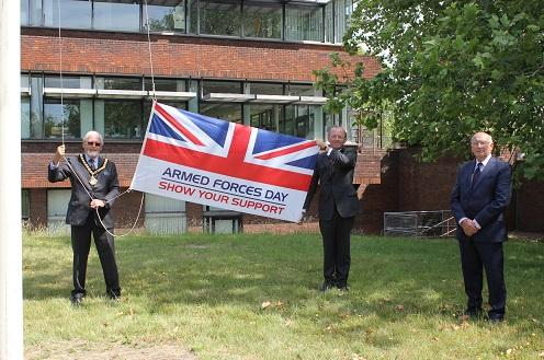Flag raised at County Hall to mark the start of Armed Forces Week