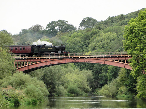 Railway Bridge in Bewdley with a train going over