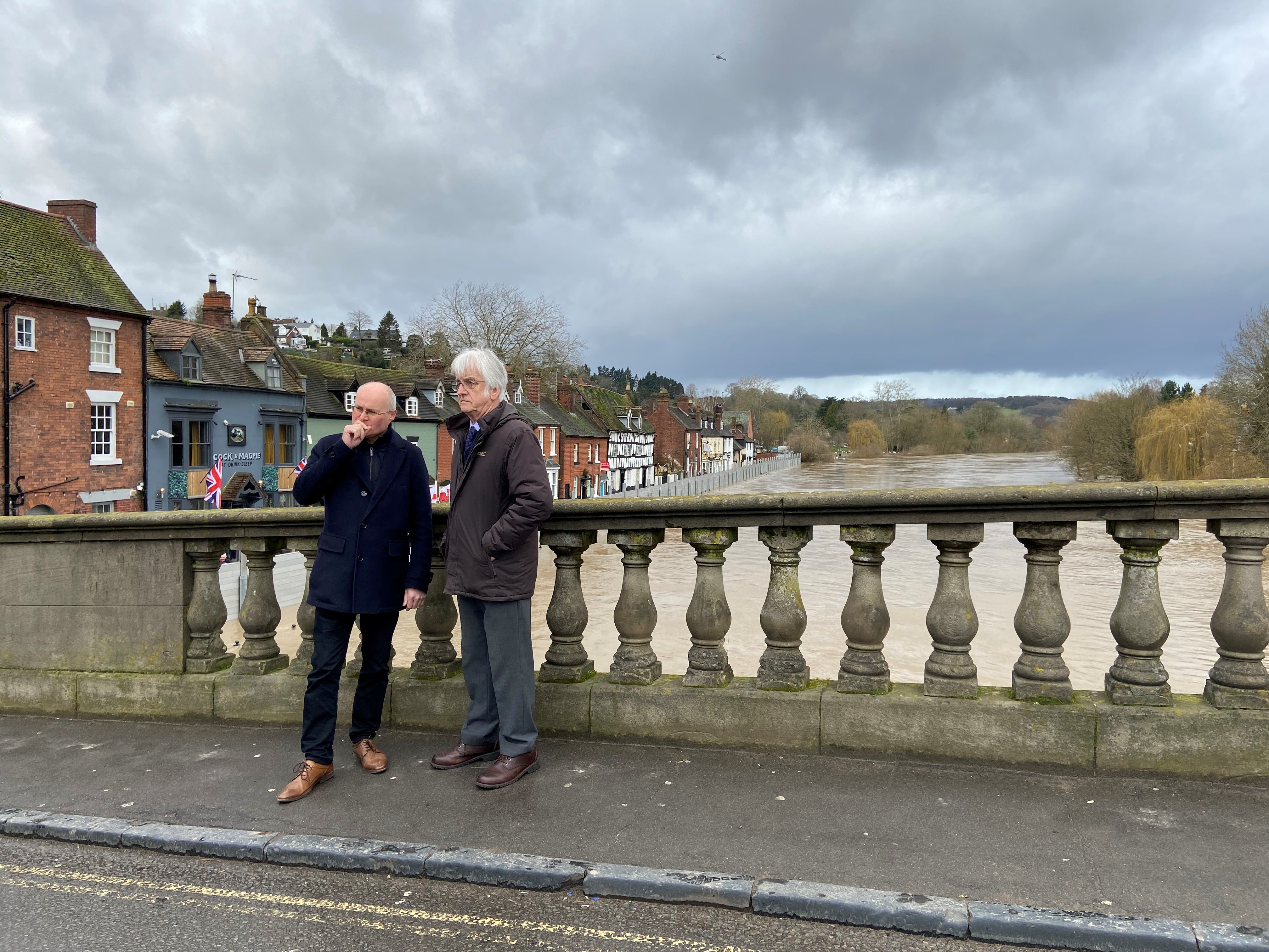 Councillor Simon Geraghty and Councillor Ian Hardiman in Bewdley