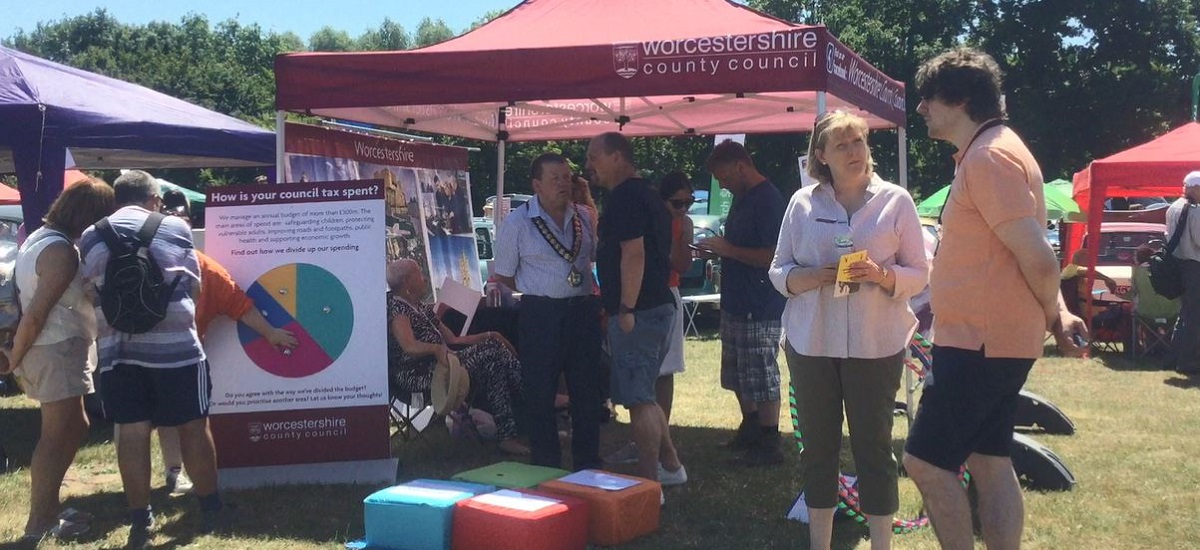 Busy stand at Redditch Green Fair