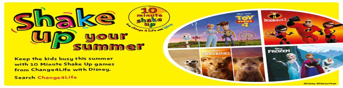 Keep the kids busy this summer with 10 minute shake up games from Change4Life with Disney