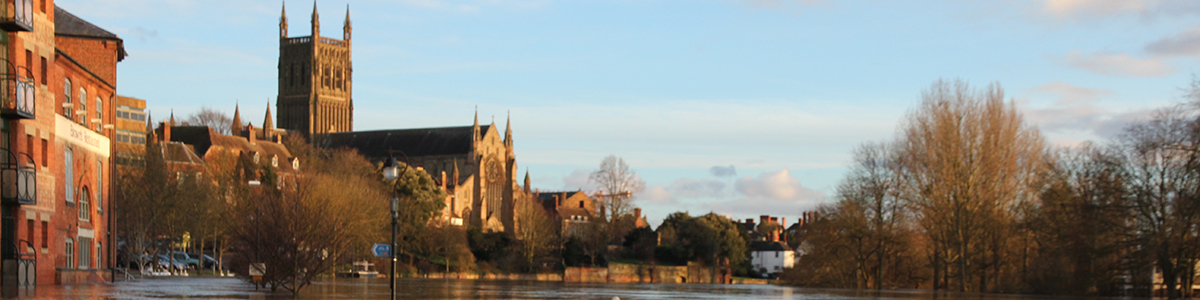 An image of Worcester Cathedral