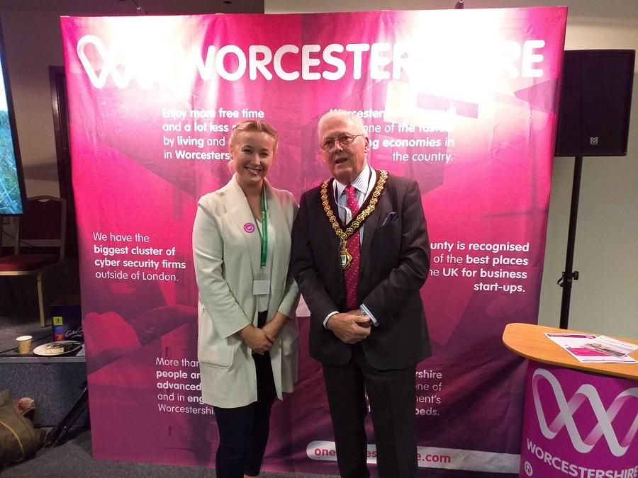 Chairman, Councillor Peter Tomlinson, and Megan Warburton from One Worcestershire.
