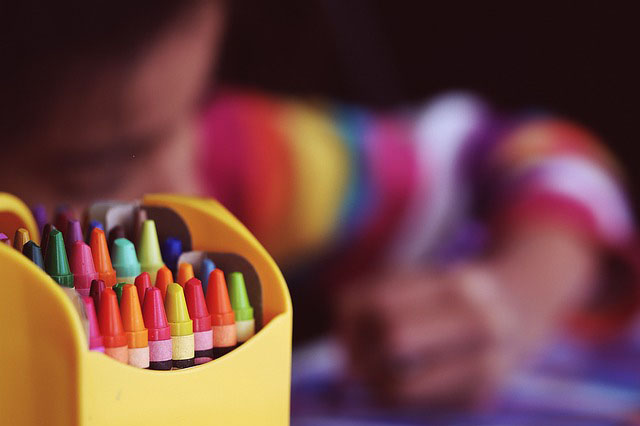 Childcare an image of some crayons
