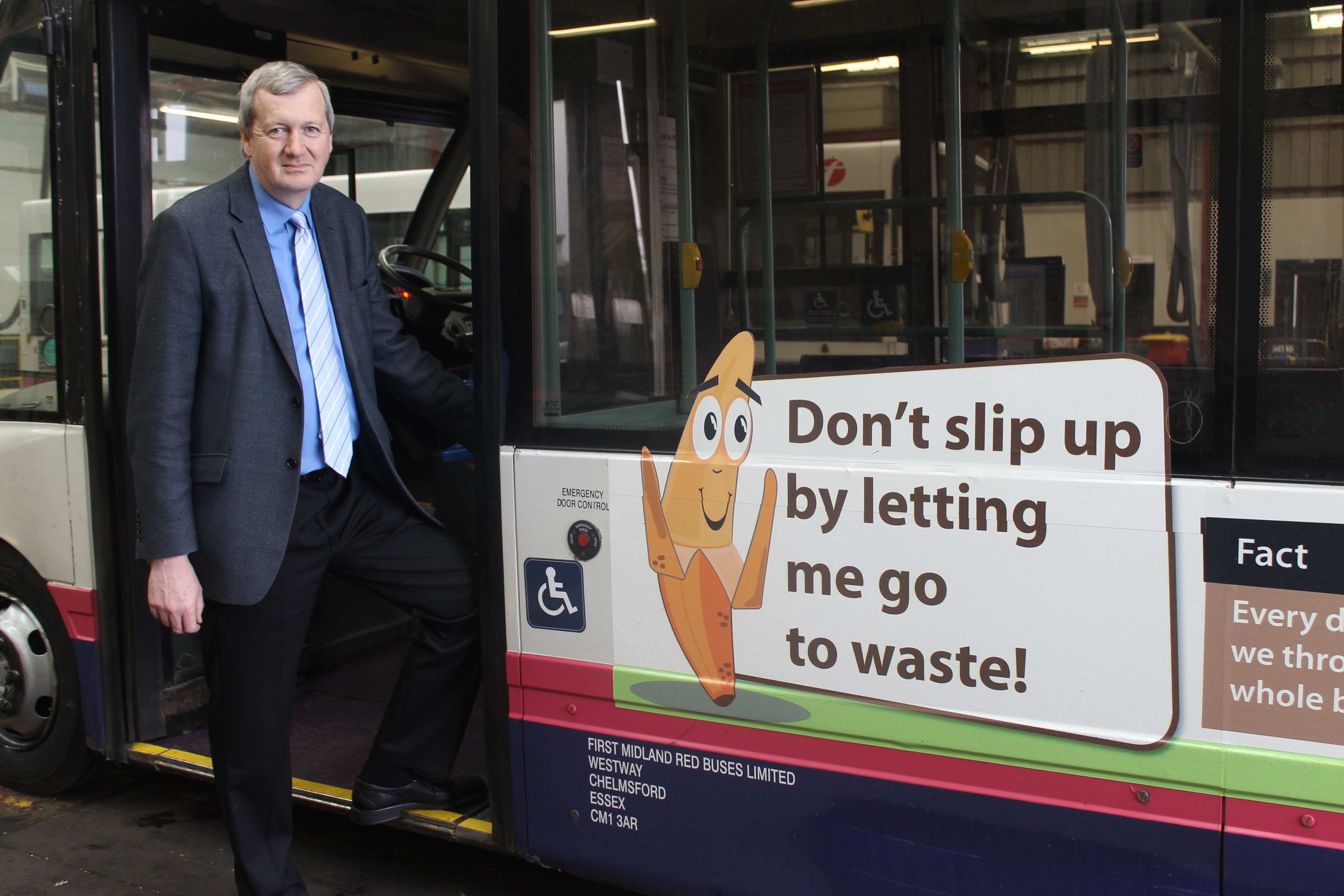 Cllr Anthony Blagg encouraging less food waste.