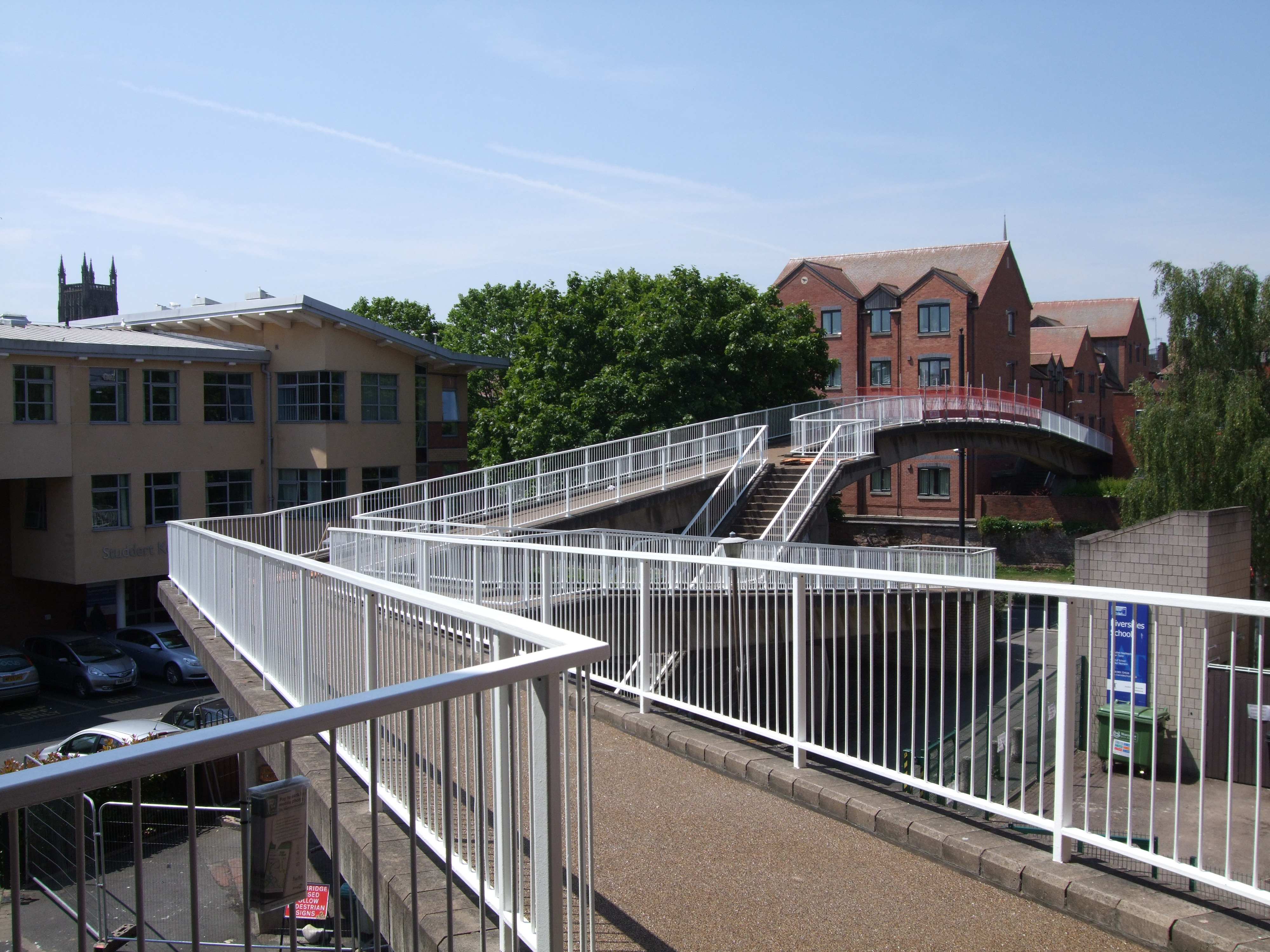 The revamped Windsor Row footbridge.