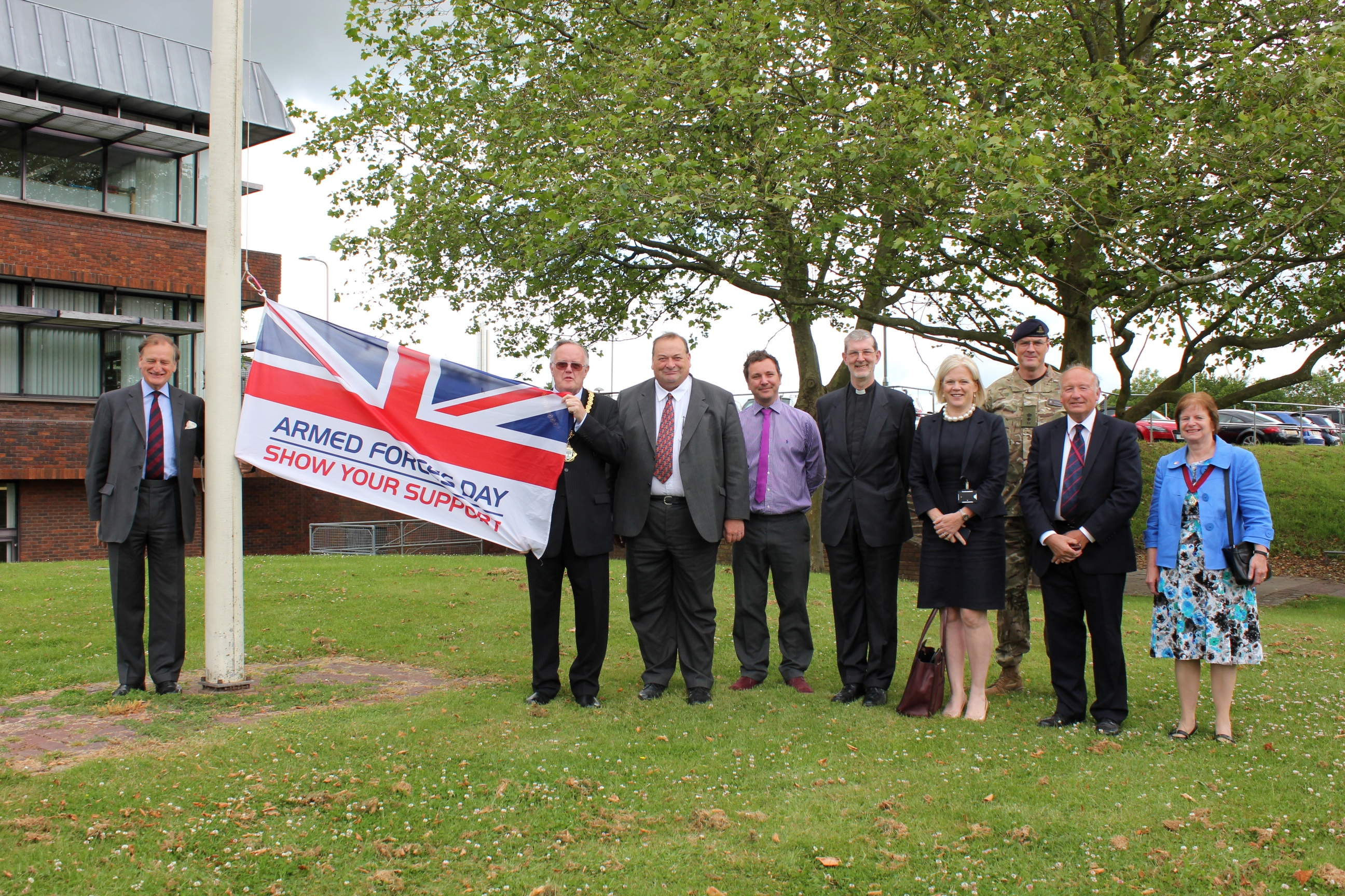 Raising the flag at County Hall