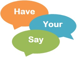 Have your Say speech bubbles