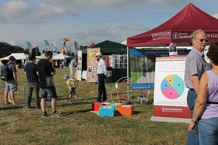Nearly 600 people have visited the council's stand across the summer roadshows programme, talking to staff and councillors about a range of local issues and taking part in the range of activities available.