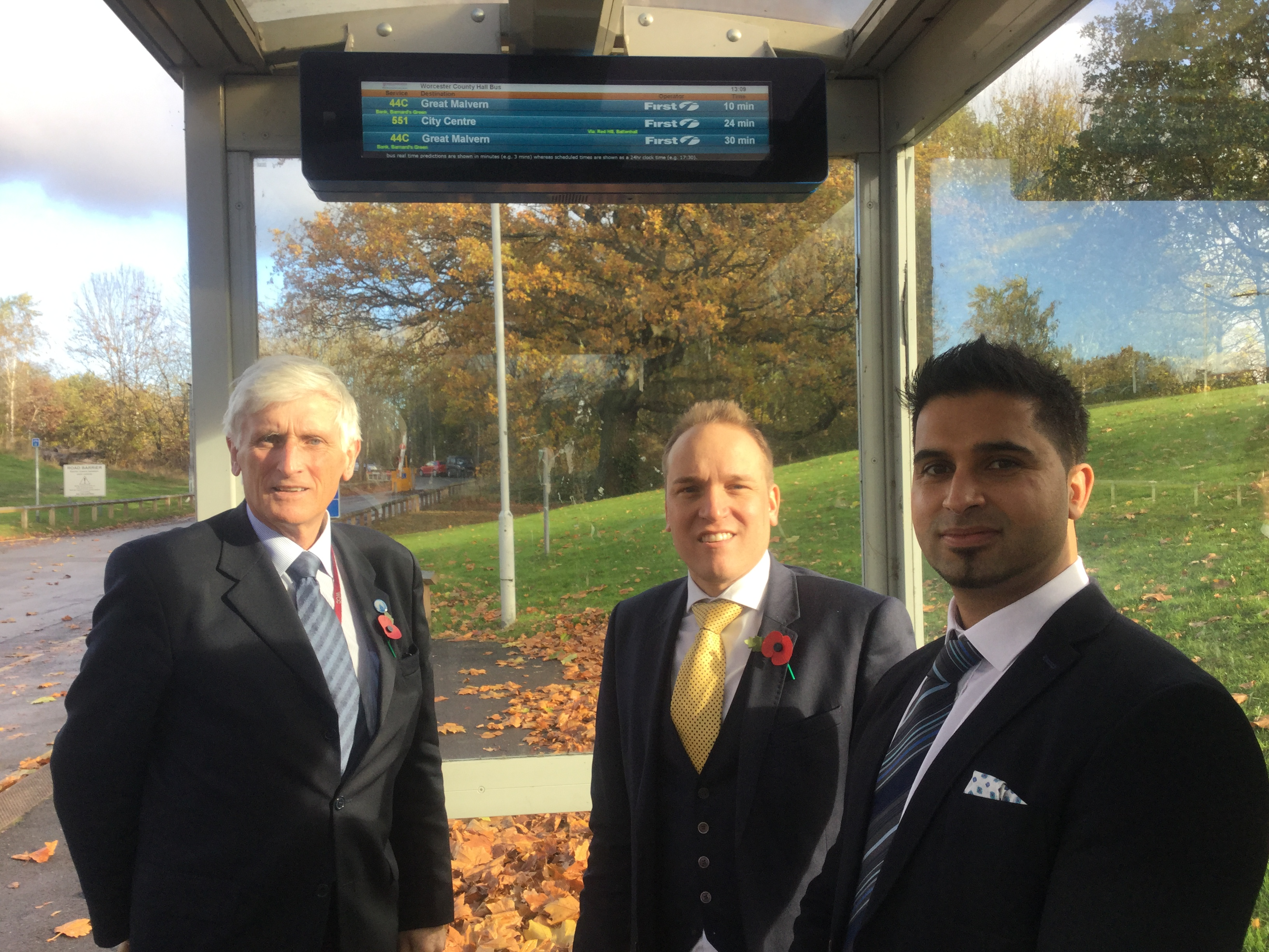 Cllr Ken Pollock, cabinet member for Economy, Skills and Infrastructure, Cllr Marcus Hart, cabinet member for Highways and Saff Riaz from RSL (Regional Services Limited).