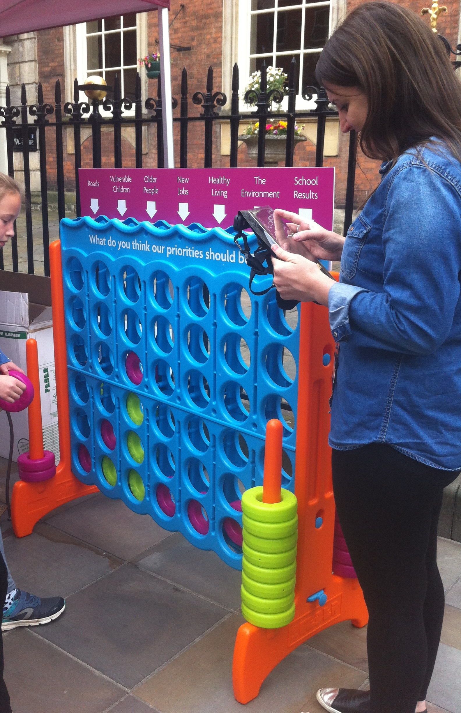 Have Your Say Roadshow Connect 4 activity