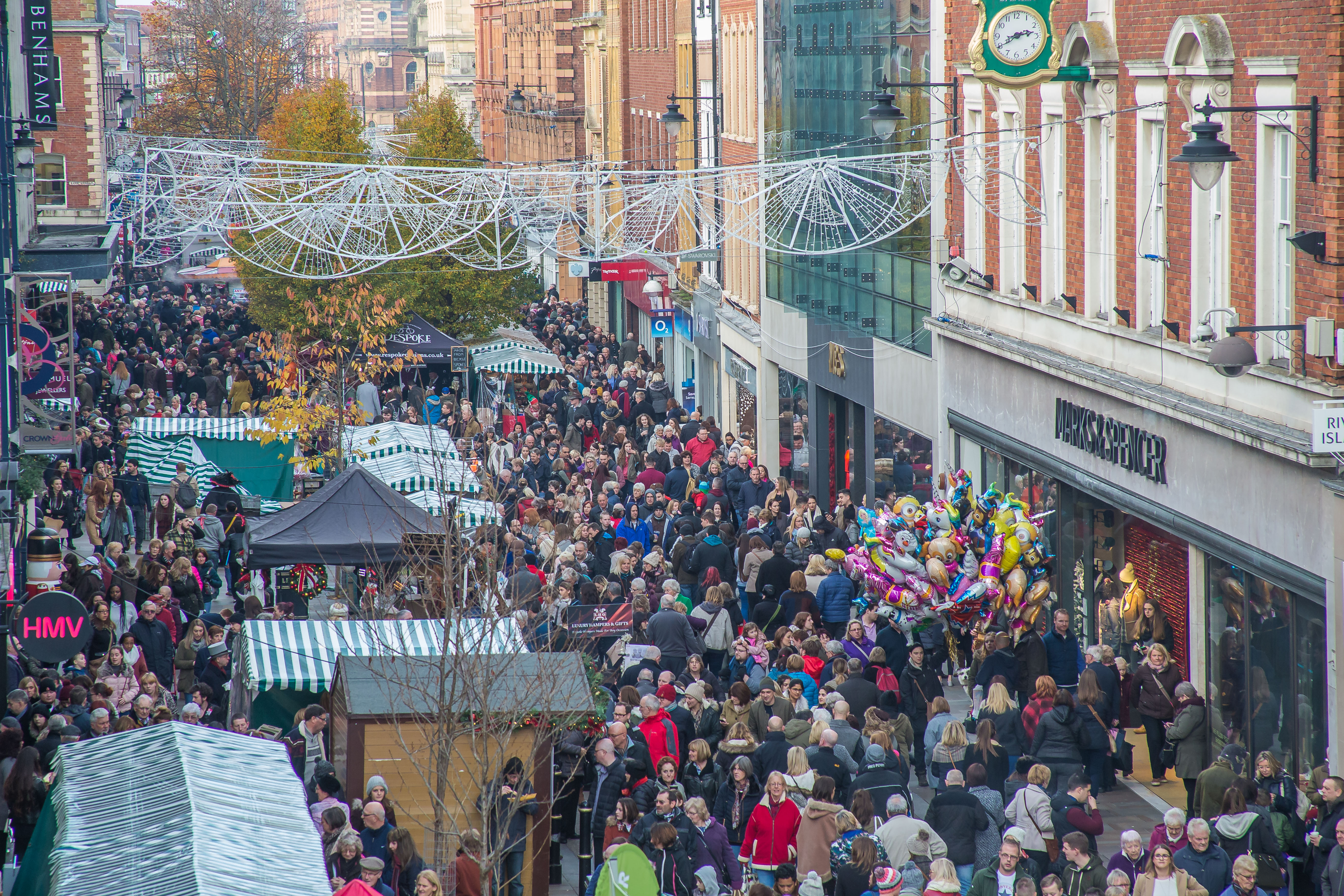 Worcester High Street during the Victorian Fayre
