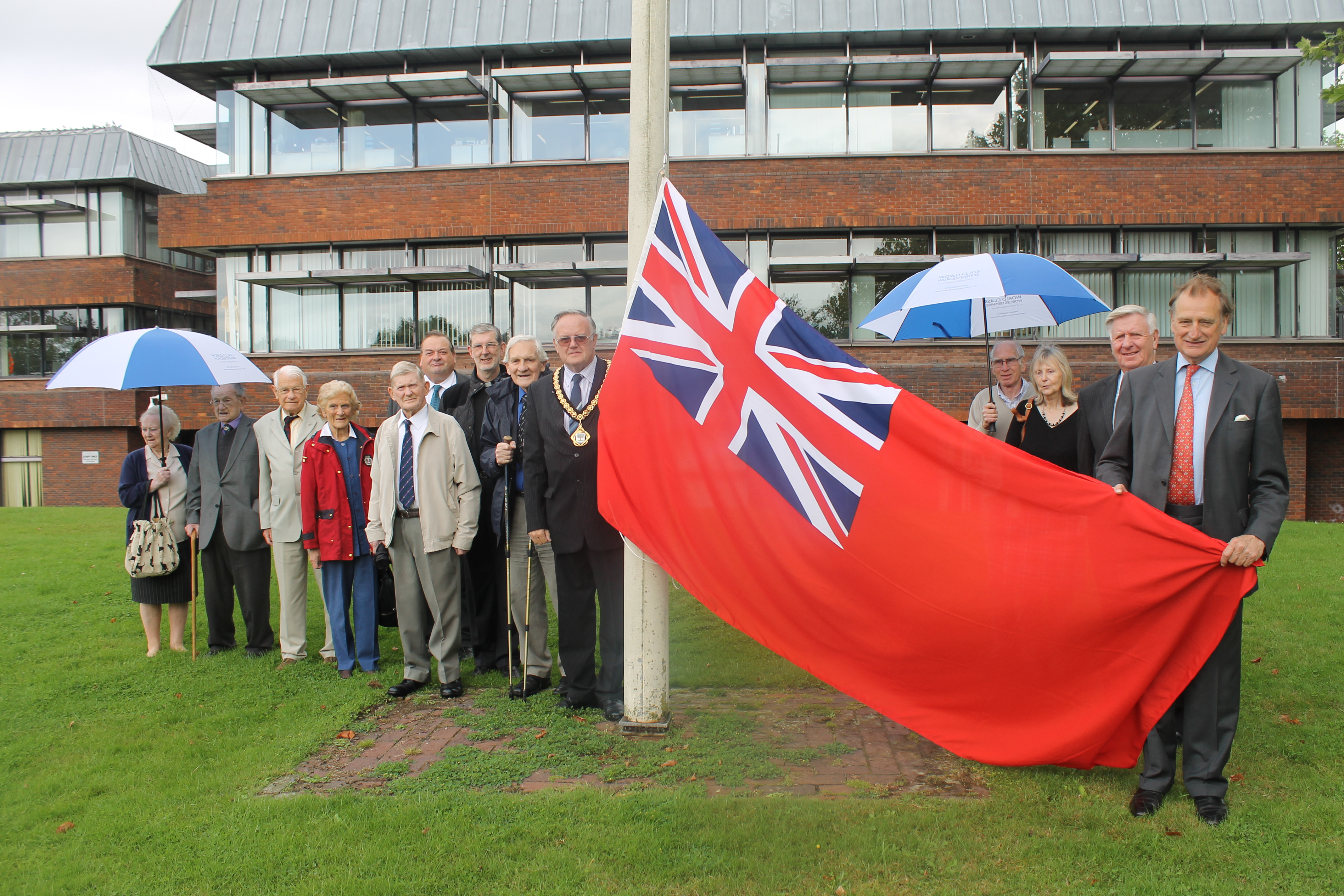 Raising the flag for Merchant Navy Day
