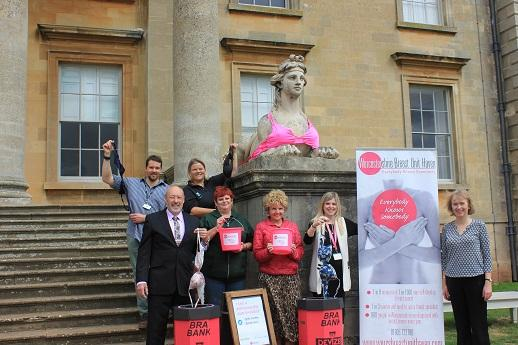 Croome Court's famous sphinxes have today lent their 'support' to a new county wide bra recycling scheme that has been launched today.