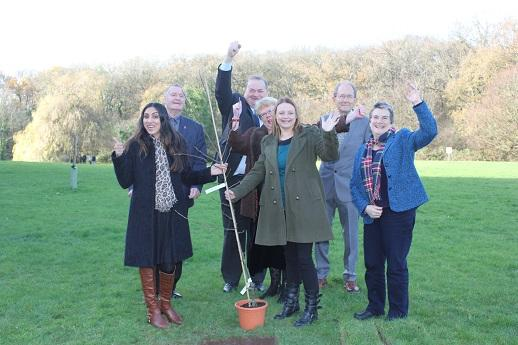 A Black Pear Tree Award, named after the county's unique emblem, has been planted at County Hall in Worcester as part of the celebrations to mark 70 years of Adult Social Care.
