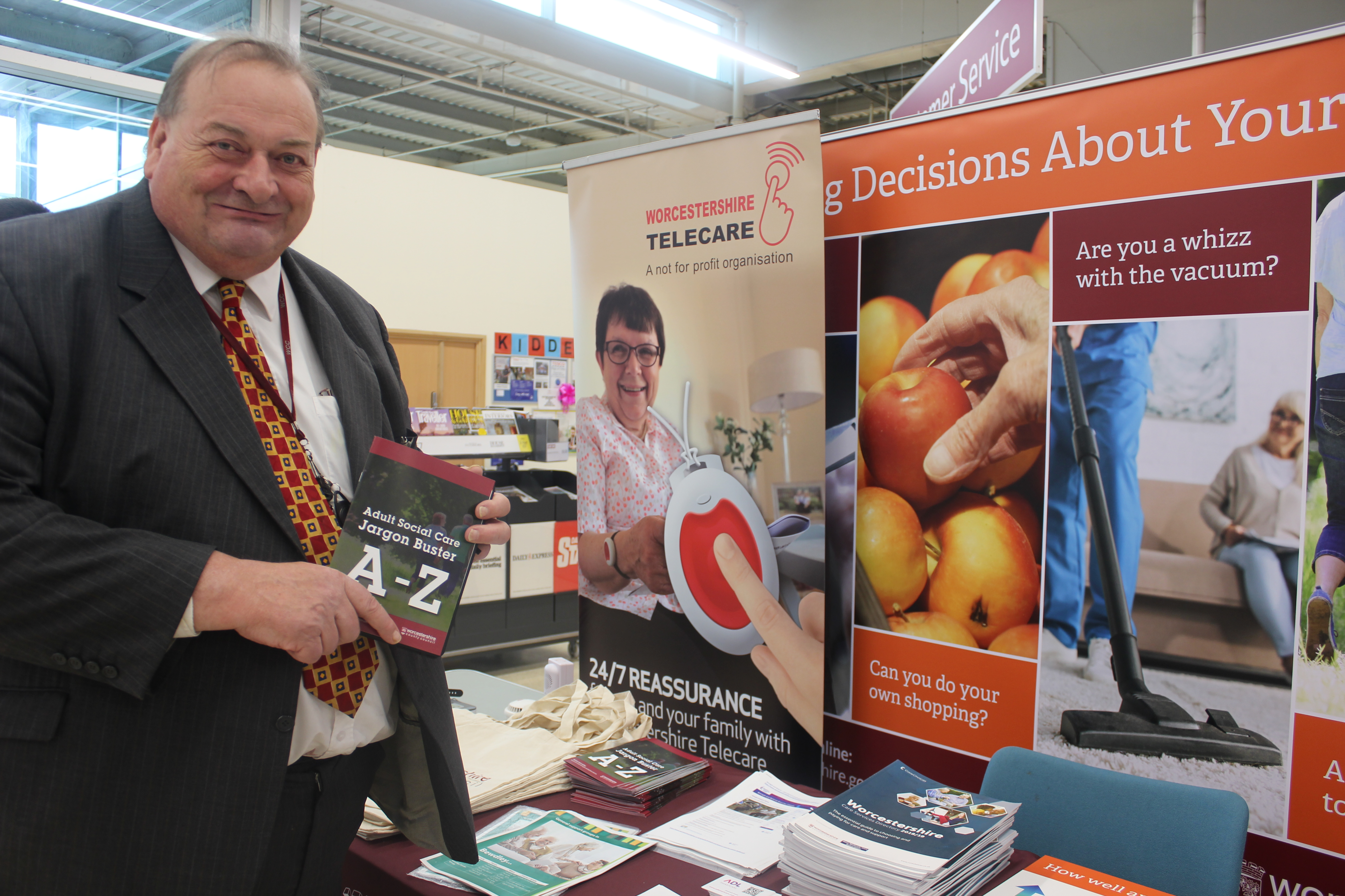 Councillor Adrian Hardman at one of the adult social care engagement events
