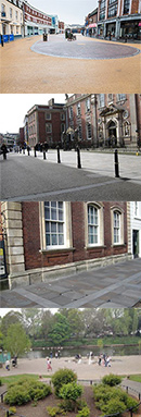 Images of Angel Place The Guildhall and The South Quay at the Riverside in Worcester City Centre