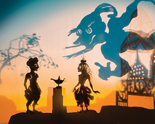Aladdin shadow puppetry