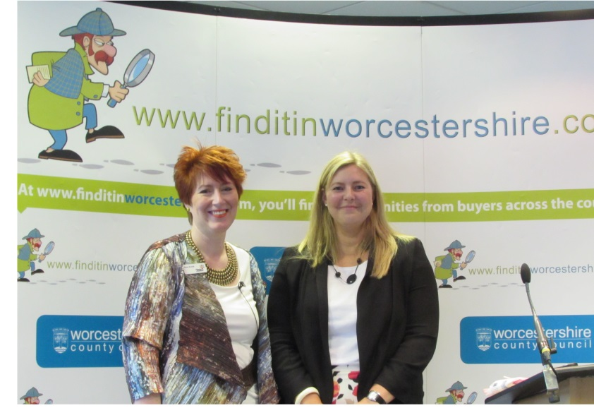 Jane Brook (house of colour) and Kathryn Wagstaff (Finditinworcestershire Project Manager and Business Relationship Manager at Worcestershire County Council)