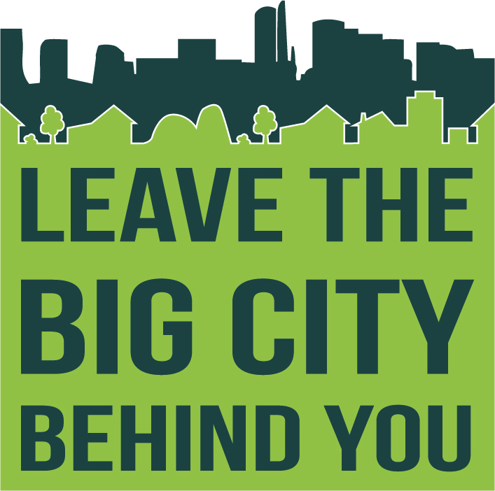 Leave the city behind you square logo