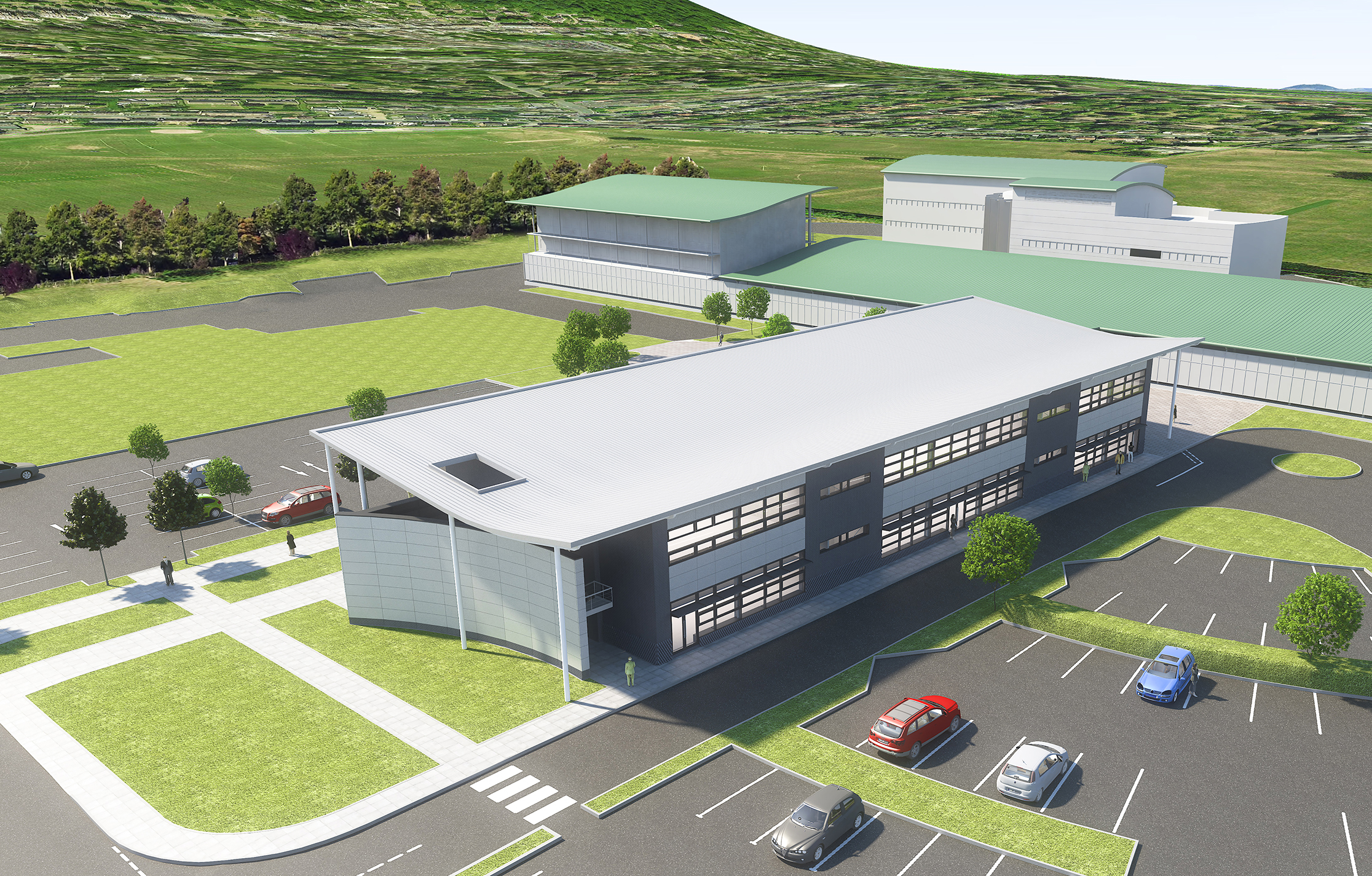 Artists impression phase 5 of Malvern Hills Science Park