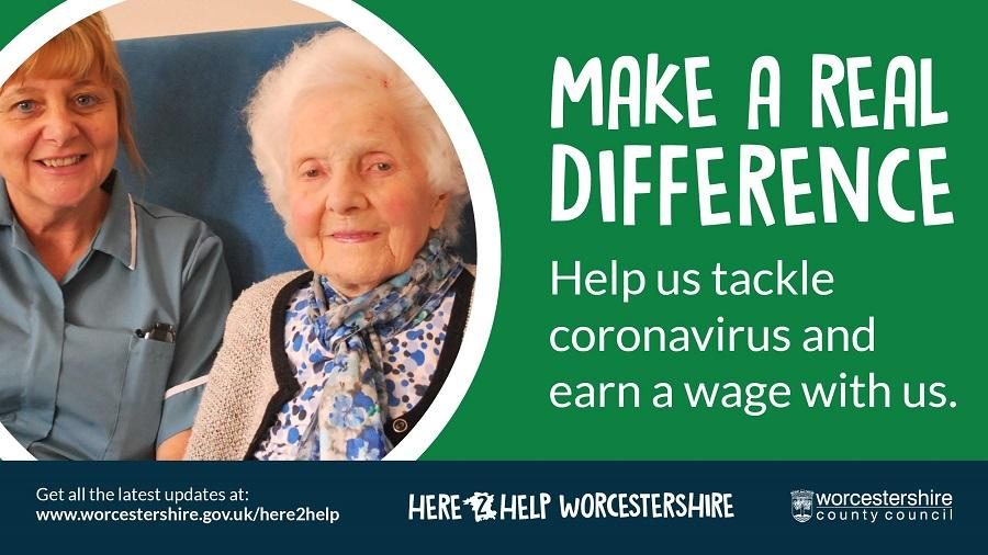 Make a real difference graphic. Featuring Eileen Jones with her carer Karen Bradley