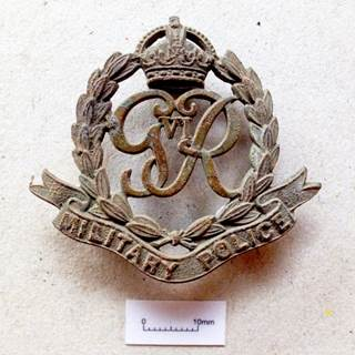 Military Policy Badge found at the Cathedral roundabout dig.