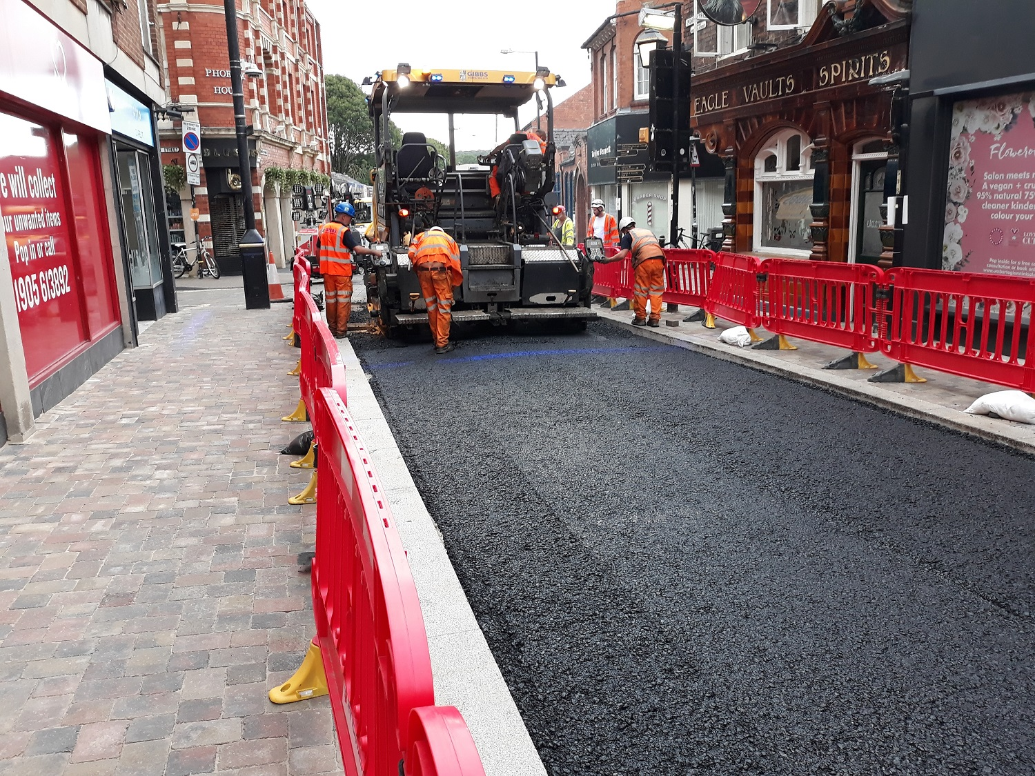 Work taking place on Pump Street in Worcester