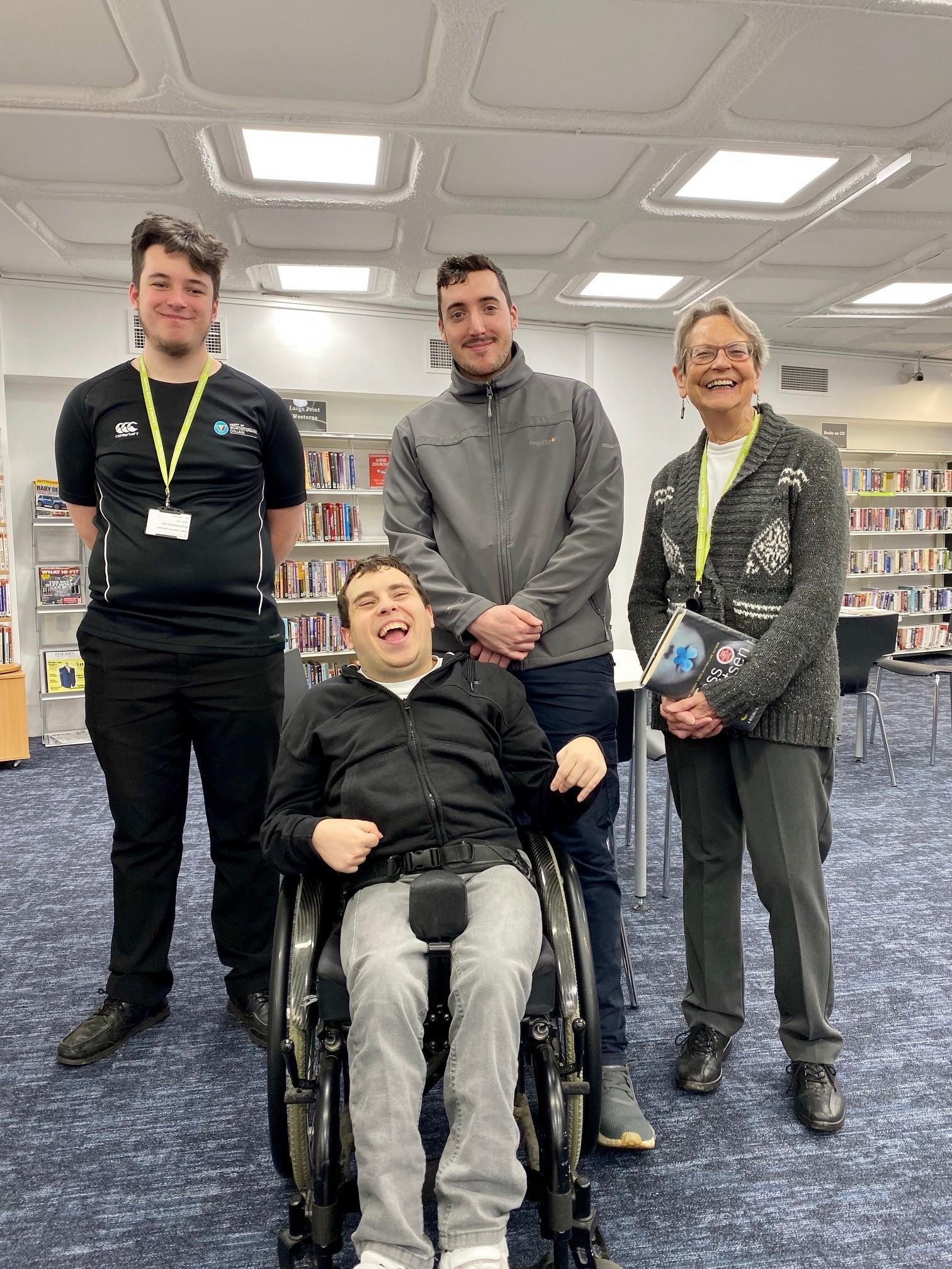 Volunteers pose at Redditch Library for Volunteers Day 2019