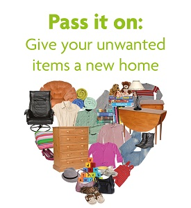 Reuse heart give your unwanted items a new home