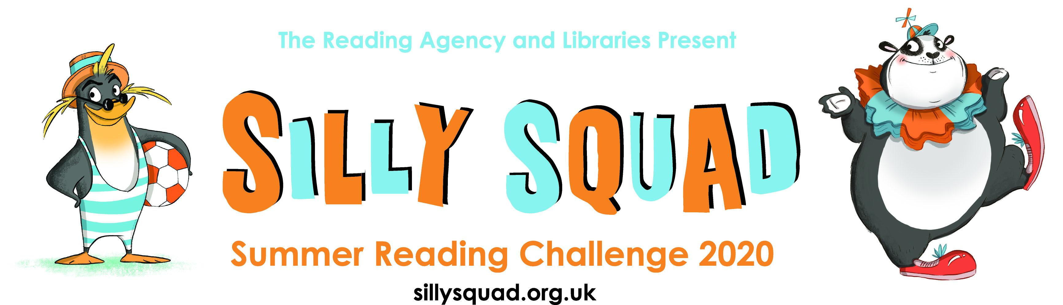 The brightly coloured Silly Squad logo for this year's Summer Reading Challenge. It features a panda.