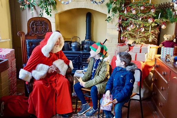 Santa visiting Hartlebury Castle