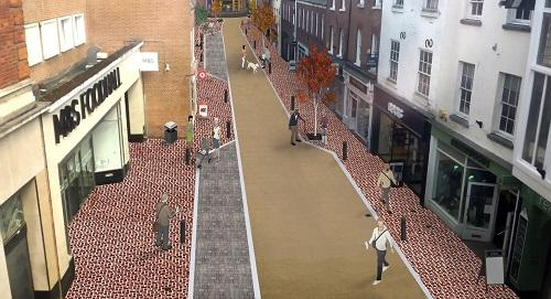 The scheme to improve The Shambles and Church Street aims to deliver an attractive functional and durable area of the city centre.