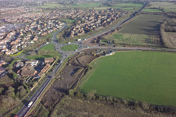 Southern Link Road phase 3 aerial photo