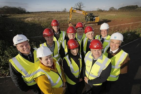 Work has begun on a £20 million environmentally friendly development that will bring a leading UK kitchen and bathroom manufacturer to Worcestershire.