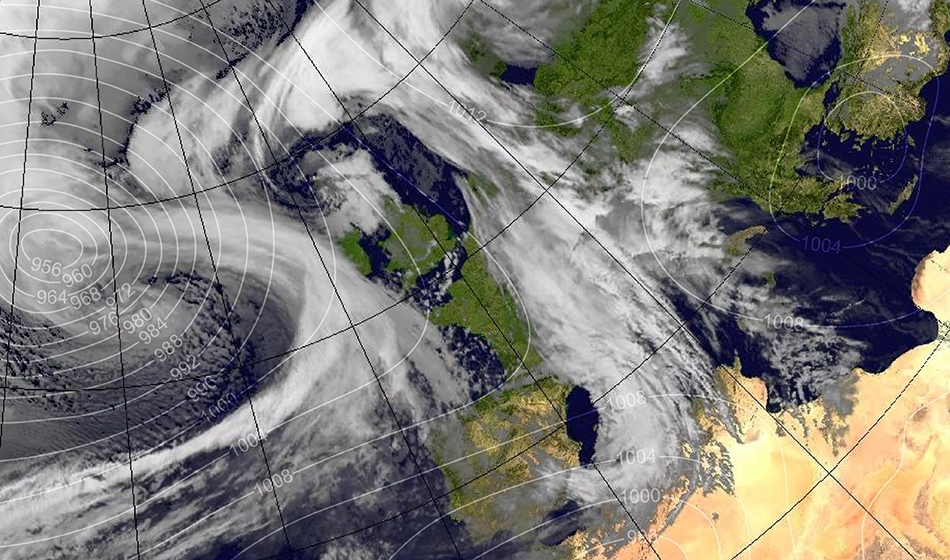 Storm Doris weather map