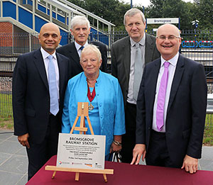 The opening of Bromsgrove Rail Way Station an image of the opening ceremony