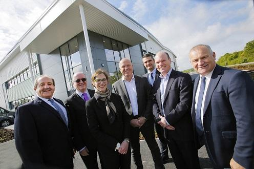 Photo: (l-r) Martin Head, A&H Construction; Councillor Richard Morris, Worcestershire County Council; Jane Harrison, Liberty Property Trust; Simon Felton, Cornelius Beverage Technologies; Stephen Butterworth, Worcestershire County Council; Gerard Ludlow, Stoford Developments; Gary Woodman, Worcestershire LEP at the announcement of Marmon Food and Beverage company coming to Worcester Six