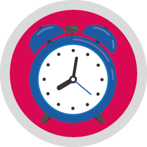 WFH Icons alarm clock