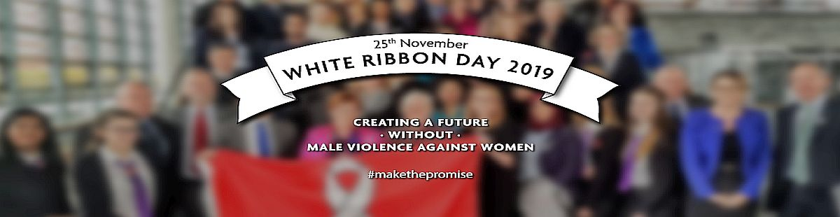 White Ribbon day banner