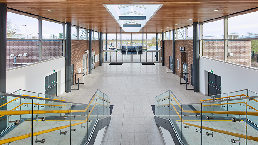 Internal image of Parkway station showing the ticket hall