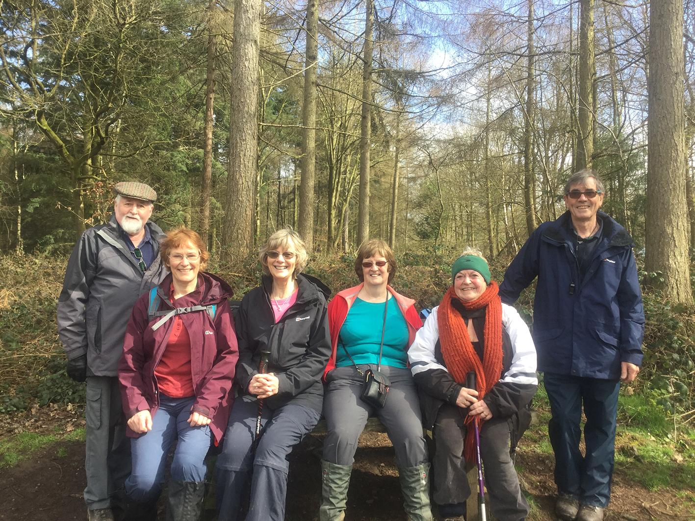 Participants at a health walks in Wyre Forest