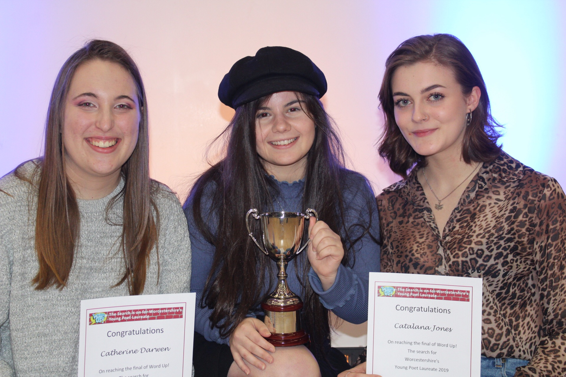 •	Last year's winner Sophie Green and runners up Catherine Darwen and Cat Jones